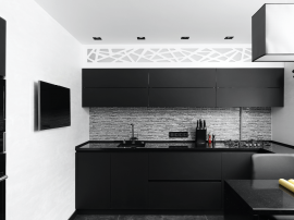 Black Kitchen and Black Kitchen Cabinets