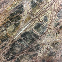 Rain Forest Brown Leather Marble
